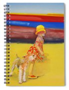 Brightly Painted Wooden Boats With Terrier And Friend Spiral Notebook