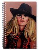 Brigitte Bardot Painting 1 Spiral Notebook