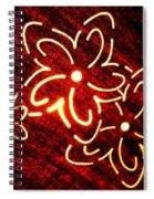 Brilliant Floral Abstract Spiral Notebook