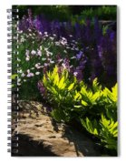 Brilliant Green Sunshine - Impressions Of Spring Spiral Notebook