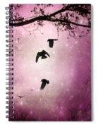 Brilliant Pink Surreal Sky Spiral Notebook
