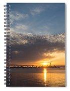 Brilliant Toronto Skyline Sunrise Over Lake Ontario Spiral Notebook