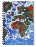 Brilliant World - Middle Panel Spiral Notebook