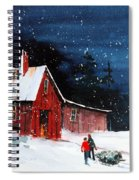 Liberty - Bringing Home The Tree Spiral Notebook