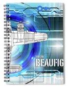 Bristol Beaufighter Blueprint Spiral Notebook