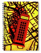 Brit Phone Box Spiral Notebook