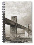 Britannia Bridge Across Menai Strait Spiral Notebook