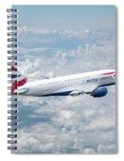 British Airways Airbus A380-841 Spiral Notebook