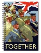 British Empire Soldiers Together Spiral Notebook