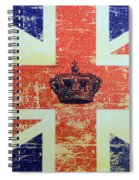British Flag And Royal Crown Spiral Notebook
