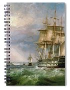 British Men-o'-war Sailing Into Cork Harbour  Spiral Notebook