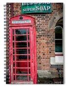 British Phone Box Spiral Notebook