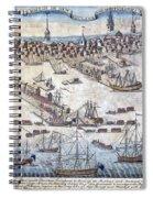 British Ships Of War, Landing Troops Spiral Notebook