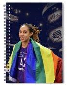 Brittney Griner Lgbt Pride 4 Spiral Notebook