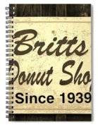 Britt's Donut Shop Sign 3 Spiral Notebook