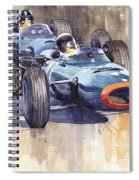 Brm P261 1965 Italian Gp Stewart Hill Spiral Notebook