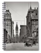 Broad Street Philadelphia 1905 Spiral Notebook