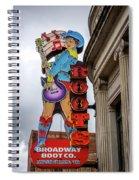 Broadway Boots - Nashville Tn Spiral Notebook