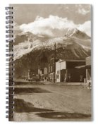 Broadway In Skagway Alaska Street Scene Circa 1957 Spiral Notebook