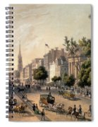 Broadway In The Nineteenth Century Spiral Notebook