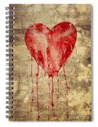 Broken And Bleeding Heart On The Wall Spiral Notebook