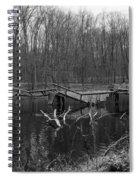 Broken Bridges In Black And White Spiral Notebook