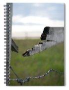 Broken Fence Stormy Skies Spiral Notebook