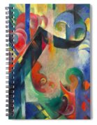 Broken Forms By Franz Marc Modern Bright Colored Painting  Spiral Notebook