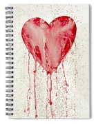 Broken Heart - Bleeding Heart Spiral Notebook