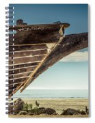 Broken Hull Spiral Notebook