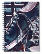 Broken-in Converse Spiral Notebook