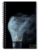 Broken Light Bulb Spiral Notebook