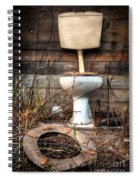 Broken Toilet Spiral Notebook