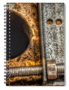 Bromo Seltzer Tower's 1911 Seth Thomas Clock Mechanism Abstract #11 Spiral Notebook