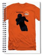 Broncos Football Spiral Notebook