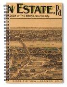 1909 Bronx New York Realtor Flyer Spiral Notebook