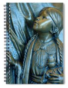 Bronze Onieda Indian Girl Spiral Notebook
