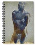 Bronze Statue Spiral Notebook