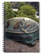 Bronze Turtle Dragon Sculpture Spiral Notebook