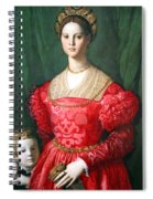 Bronzino's A Young Woman And Her Little Boy Spiral Notebook