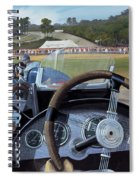Brooklands From The Hot Seat  Spiral Notebook
