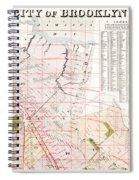 Brooklyn 1893 Map Spiral Notebook