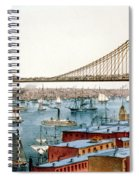 Brooklyn Bridge, 1872 Spiral Notebook