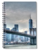 Brooklyn Bridge And The Lower Manhattan Financial District Spiral Notebook