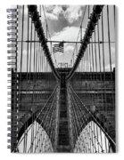 Brooklyn Bridge Bw Spiral Notebook
