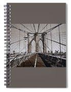Brooklyn Bridge By Art Farrar Photographs, Ny 1930 Spiral Notebook