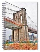 Brooklyn Bridge Close Up Spiral Notebook