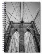 Brooklyn Bridge Goes Up Spiral Notebook