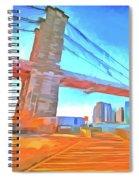Brooklyn Bridge New York Pop Art Spiral Notebook