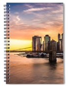 Brooklyn Bridge Panorama Spiral Notebook